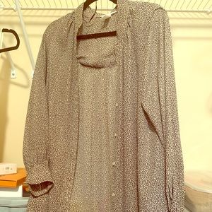 H&M long sleeved button up dress